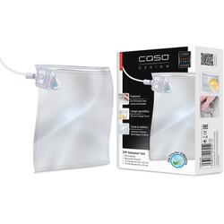 Caso Vakuumierbeutel-Adapter 1325, Zubehör für CASO Balken Vakuumierer, inkl. 20 ZIP-Beutel