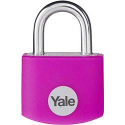 YALE YE3B/25/112/1/P Vorhängeschloss 25mm Pink Schlüsselschloss