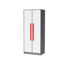 Feldmann-Wohnen Kleiderschrank GIT Griffe in Rot