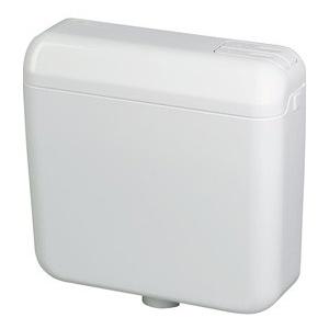 WC Spülkasten Aufputz mit Zubehör - tiefhängend, 2 Mengen Taste - weiß