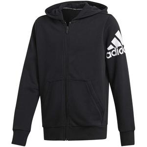 adidas Yb Mh Bos Fz Sweatshirt für Kinder M schwarz / weiß