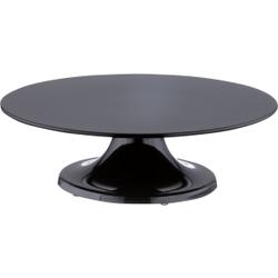 SCHNEIDER Tortenplatte aus Melamin, drehbar, Ø 32 cm, Kuchenplatte aus bruchfestem Melamin, Farbe: schwarz, Höhe: 100 mm