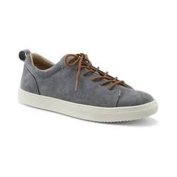 Leder-Sneaker - 45 - Grau