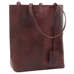 Gusti Leder Shopper Cassidy, Handtasche Ledertasche Henkeltasche Laptoptasche rot