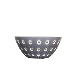 Guzzini Servierschüssel Guzzini Schale LE MURRINE grau-weiß D ca. 25 cm, Acrylglas
