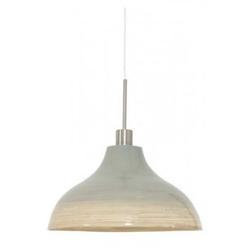 Casa Padrino Jugendstil Decken Hängelampe Grau Bambus Durchmesser 40 x H 22 cm Jugendstil - Möbel Lüster Leuchter Deckenleuchte Hängelampe