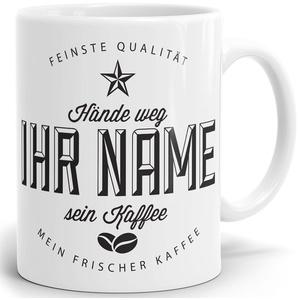 Drucksaal Namenstasse-Tasse-Becher-Kaffeetasse-mit Name-mit Namen individuell und persönlich Motiv Kaffeeshop Vintage Tasse