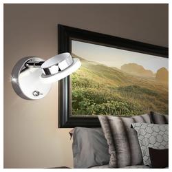 WOFI Wandleuchte, LED Wand Leuchte Diele beweglicher Spot 1-flg Chrom WOFI COMO 4614.01.01.0000