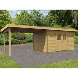 Woodfeeling Bastrup 7 Gartenhaus, inkl. Schleppdach