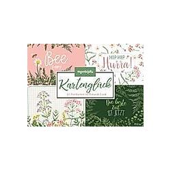Kartenglück - 30 Postkarten im Botanik-Look
