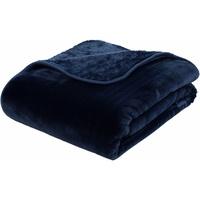 Wohndecke Josefine, mit premium Cashmere Feeling blau 130 cm x 170 cm