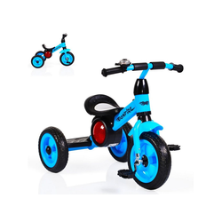Moni Dreirad Dreirad Bonfire, mit EVA-Reifen, Trittbrett, Musik, Licht, Fahrradklingel blau