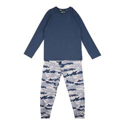 SANETTA Pyjama weiß / blau, Größe 188, 4999438