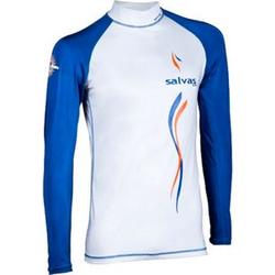 SALVAS Rash Guard Langarm Strand Bade Shirt Surf Top SUP Tauchen Lycra UV UPF50+ Größe: S