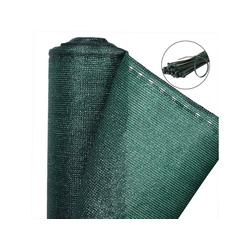 Woltu Blende, Zaunblende, Sichtschutz mit Kabelbinder, grün 100 cm x 600 cm