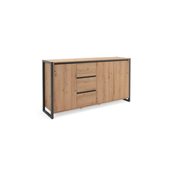 HTI-Living Sideboard Sideboard Denver mit 4 Fächern und 3 Schubladen, Sideboard