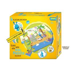 Noris Puzzle XXL Puzzle Kikaninchen - Happy Birthday. 45 Teile, Puzzleteile