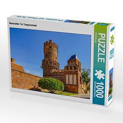 Neustädter Tor Tangermünde Lege-Größe 64 x 48 cm Foto-Puzzle Bild von Dirk Meutzner Puzzle