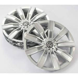 Volkswagen 5NA071457A Radkappen (4 Stück) Radblenden 17 Zoll Radzierblenden Radzierkappen Stahlfelgen, brillantsilber