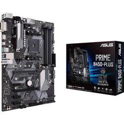 Asus Prime B450-Plus Mainboard Sockel AMD AM4 Formfaktor ATX Mainboard-Chipsatz AMD® B450