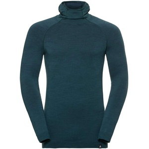 Odlo Herren Gesichtsmaske Unterhemd, Blue Coral Melange, XL