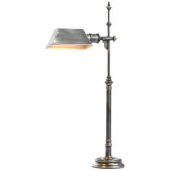 Casa Padrino Luxus Tischleuchte Antik Silber 16 x 20,5 x H. 82 cm - Antikstil Tischlampe