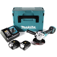 Makita DGA511RTJ inkl. 2 x 5,0 Ah + Makpac Gr. 3