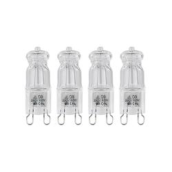 Halogen-Stiftsockellampe G9, 42 W, 625 lm, warmweiß, 4er-Pack