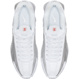 Nike Men's Shox R4 white/metallic silver/bright crimson/metallic silver 40,5