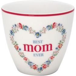 Greengate Becher Greengate Latte Cup MOM Weiß