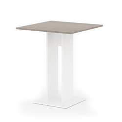 Vicco Säulen-Esstisch Esstisch EWERT Küchentisch Esszimmer Säulentisch weiß Sonoma Eiche 65x65