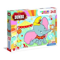 Clementoni® Steckpuzzle Clementoni 28501 - Disney - Dumbo - Puzzle, Maxi, 24 Teile, 250 Puzzleteile