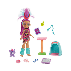 Mattel® Anziehpuppe Cave Club Katzenspaß mit Roaralai Spielset & Puppe