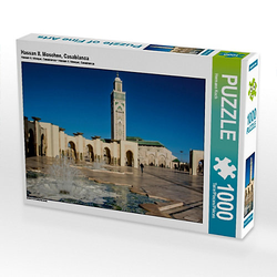 Hassan II. Moschee, Casablanca Lege-Größe 64 x 48 cm Foto-Puzzle Bild von Hermann Koch Puzzle