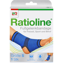 RATIOLINE active Fußgelenkbandage Gr.S 1 St.