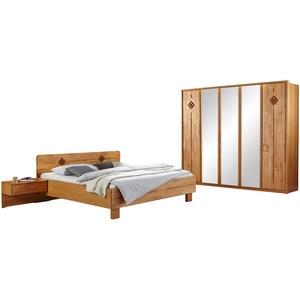 Woodford Komplett-Schlafzimmer 4-tlg.  Genua ¦ holzfarben ¦ Maße (cm): B: 250 H: 216 T: 58