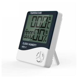 Masbekte Temperatur und Luftfeuchtigkeitsmessgerät Wetterstation (Thermometer Hygrometer, Zeit Luftfeuchtigkeit Temperaturmesser)