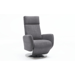 Steinpol Sit&More Fernsehsessel Kobra in grau, Sitzhöhe 47 cm