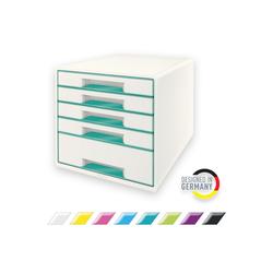 LEITZ Schubladenbox WOW, CUBE mit 5 Schubladen