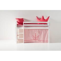 Hoppekids Hochbett mit Matratze und Textil-Set rosa 81 cm x 168 cm x 105 cm