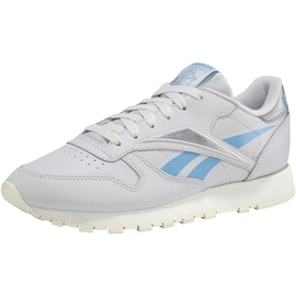 Reebok Classic Leather porcelain/fluid blue/silver metallic 40
