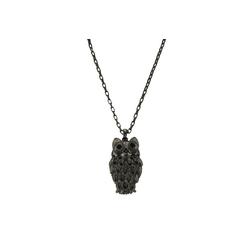Zeeme Collier Metall schwarz Kristalle schwarz, Collier