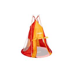 relaxdays Nestschaukel Zelt für Nestschaukel rot-orange 110 cm x 110 cm x 130 cm