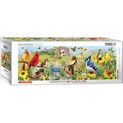 EUROGRAPHICS Puzzle 6010-5338 Garden Birds Panorama von Greg Giordano, 1000 Puzzleteile bunt