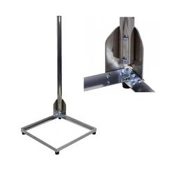 PremiumX Balkonständer Alu 40x40cm mit 1m Mast Ø 50mm mit Eck Halterung für Satellitenschüssel Flachdach SAT-Halterung