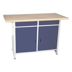 Werkbank 120 cm breit blau, SZ Metall, 84x60 cm