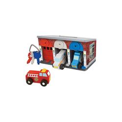 Melissa & Doug Spielzeug-Auto Rettungsdienstgarage aus Holz