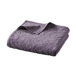Sesselüberwurf mit Hoch-/Tief-Struktur lila ca. 250/220 cm
