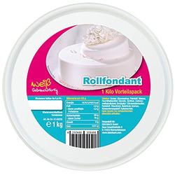 Rollfondant weiß Vorratsdose von Insula für Torten Kuchen 1000g