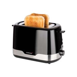 KORONA Toaster Korona 21232, Schwarz/Edelstahl